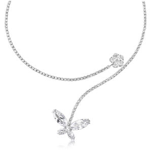 Bridal White Gold Plated Cubic Zircon Wedding Choker Necklace pictures & photos