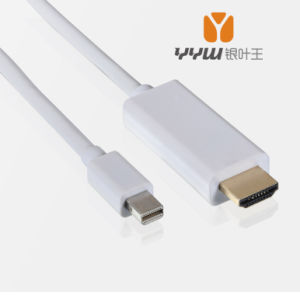 Factory Price of Mini Dp to HDMI Cable 1.8m, Mini Dp Adapter Cable
