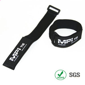 Reusable Print Double Side Hook & Loop Ties Strap pictures & photos