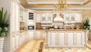 Classical Walnut Kitchen Cupboard Cabinets pictures & photos