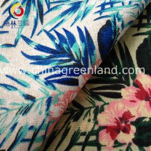 Printed Cotton Linen Flower Fabric for Garment Textile (GLLML127) pictures & photos
