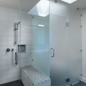90 Degree Square Double Sides Bathroom Partition Glass Clip pictures & photos