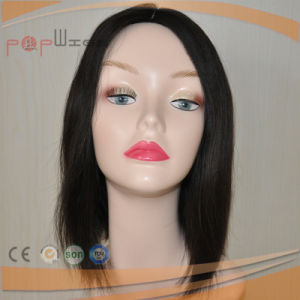 100% High Quality European Skin Top Hand Tied Full Lace Wig pictures & photos
