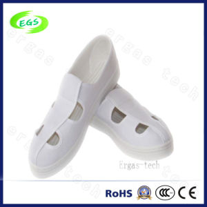 Clean Room Worker Footwear Canvas PVC ESD Antistatic Shoes pictures & photos