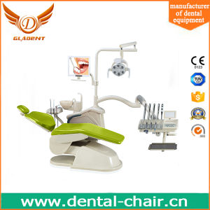 Real Leather Left-Handed Dental Chair Mobile Portable Patient Chair pictures & photos