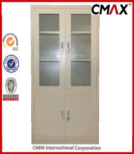 Steel Filing Cabinets Metal Storage Containers with Glass Door Cupboard Cmax-FC04-001 pictures & photos