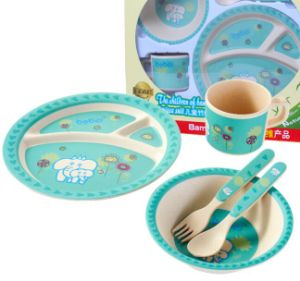 (BC-CS1075) Bamboo Fiber Tableware Set for Kids pictures & photos