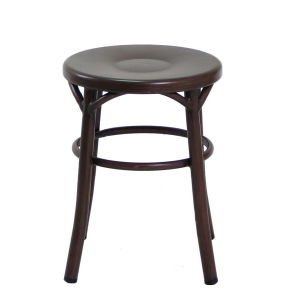626-H45-St Thonet Stool in Wooden Finish