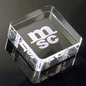 Customized Glass Cube, Elegant Glass Crystal Paperweights Wholesaler pictures & photos