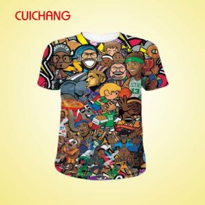 2015 Top Quality Custom Men Printing T Shirt From China pictures & photos