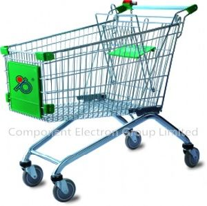 Shopping Trolley (zinc with powder, 4 inch TPR wheel) pictures & photos