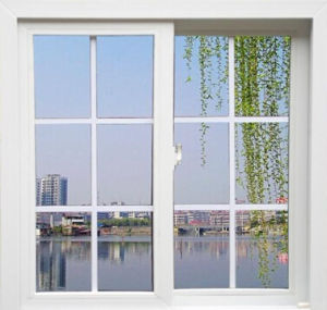 Energy Saving Double Plastic Sliding Glass Window