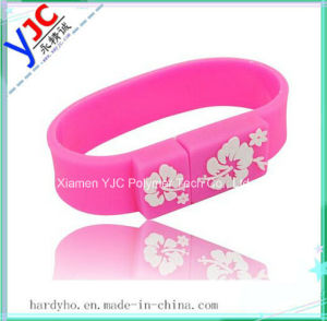 Fashionable Silicon Rubber USB Wrist Band