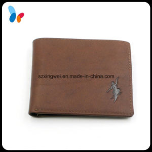 Custom Fashion Brown Genuine Cow Leather Wallet Manufacturer From China pictures & photos