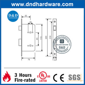Stainless Steel Bathroom Lock for Swing Door with UL Listed (DDML005) pictures & photos