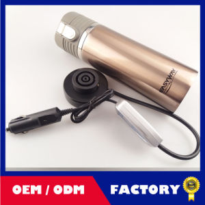 High Quality Stainless Steel Car Charge Mug 12V Heating Travel Cup/Electronic Heating Car Cup pictures & photos