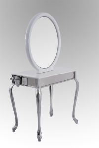 Elegant Mirror Station with Mable Table for Beauty Salon (MY-B067) pictures & photos