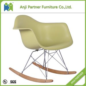 Custom 21 Century Design Shining Plastic Chair Furniture Living Room with Wooden Leg (John) pictures & photos