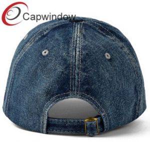 Denim Baseball Cap with Big Puff Logo for Fashion Party pictures & photos