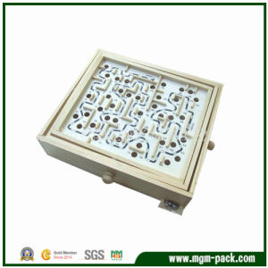 Popular Square Wooden Educational Kids Maze Toy pictures & photos