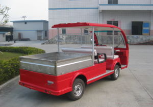 Hybrid Generator Electric Sightseeing Bus with Tablet 4seat pictures & photos