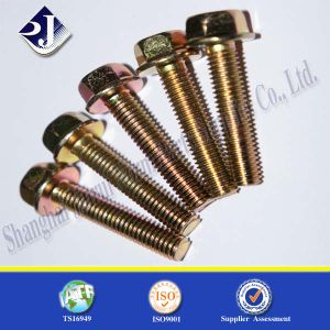 Garde 8.8 Automobile Bolt Hex Flange Bolt with Yellow Zinc pictures & photos