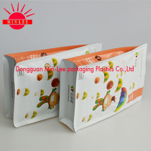 Square Flat Bottom Side Gusset Food Packaging Bag with FDA Certification pictures & photos