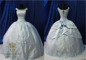 Embroidery High Quality Prom Dresses Bridal Wedding Gown
