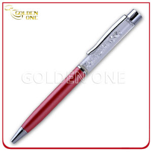 Promotional Gift Metal Twist Ball Pen with Crystal Decoration pictures & photos