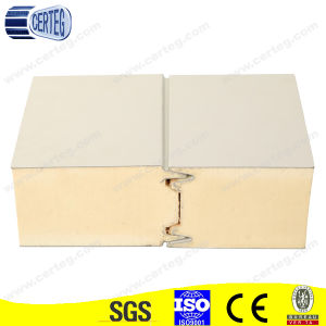 White Color Steel PU Sandwich Wall Panel for Insulation pictures & photos