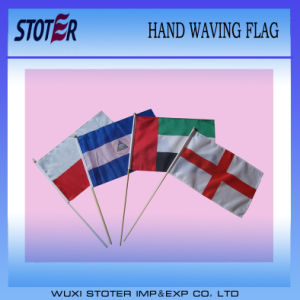 Cheap Polyester Custom Hand Flag for Outdoor Sports Game pictures & photos