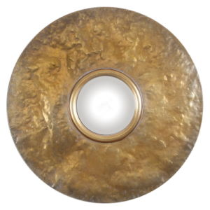 Round Hammered Metal Big Framed with Convex Wall Mirror for Home Decoration pictures & photos