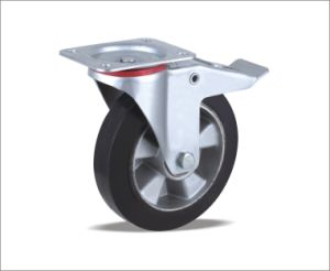 China Supplier Heavy Duty Hard Rubber Caster Wheel Small Rubber Caster Wheel pictures & photos