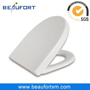 V Shape Wrap Over White UF Sanitary Toilet Seat