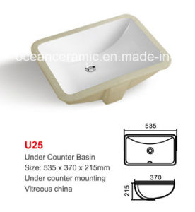 No. U25 Ceramic Under Counter Mounting Basin, Wash Basin, Lavabo pictures & photos
