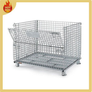 Metal Storage Cage Wire Mesh Folding Stackable Container pictures & photos