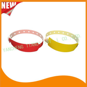 Professional Entertainment Custom Disposable Plastic ID Wristbands Bracelet Bands (E8020-48) pictures & photos