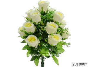 Artificial/Plastic/Silk Flower for Decoration Rose Bush (2818007) pictures & photos