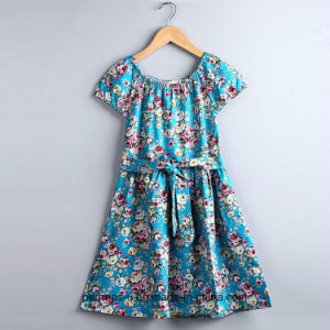 High Quality Little Girls Flower Dress Princess Floral Children Wear pictures & photos