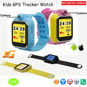 2017 3G/WiFi Portable Kids GPS Tracker Watch with Real-Map D18 pictures & photos