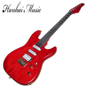 Hanhai Music / Suhr Style Red String-Thru-Body Electric Guitar pictures & photos