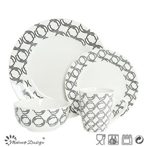 16PCS Porcelain Dinner Set with Decal Printing Design pictures & photos