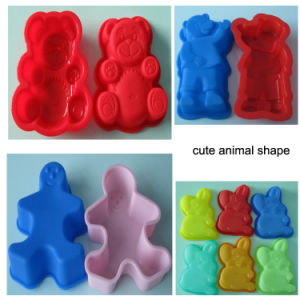 Lovely Animal Shapes Silicone Mold for Cake Jelly Cookie Biscuit pictures & photos