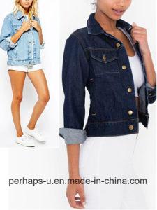 Retro and Sexy Female Denim Jacket Wholesale pictures & photos