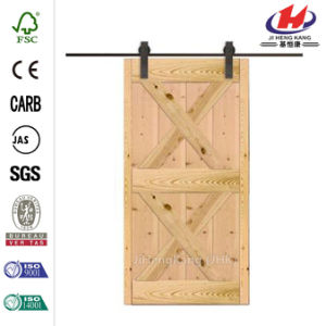 Shaker Style Solid Wood Hardware Sliding Barn Door pictures & photos