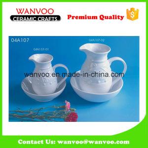 Ceramic White Porcelain Soy Sauce Vinegar Bottle pictures & photos