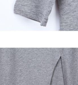 OEM 2015 Plus Size Plain Cotton Split Women Dress pictures & photos