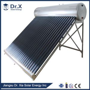 Energy Saving Compact Pressurized Evacuated Tube Solar Heating Installation pictures & photos