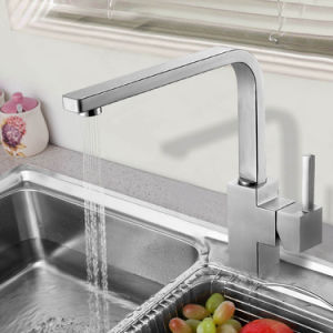 Square Design Stainless Steel Kitchen Sink Faucet with CSA Certificate pictures & photos