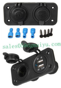 12V Dual Car Cigarette Lighter Socket Splitter USB Power Adapter Charger pictures & photos